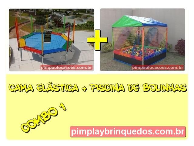 Cama Elastica + Piscina de Bolinha