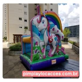 Locação Inflável Unicórnio Curitiba