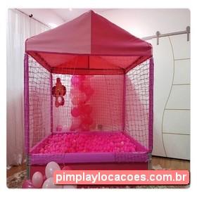 Locação Piscina de Bolinhas Rosa Curitiba