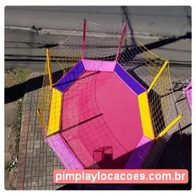 Locação Cama Elástica 3,15 Metros Rosa Curitiba