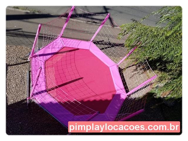 cama elastica 2.80 metros rosa