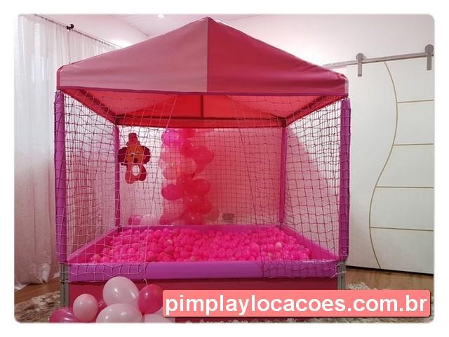 locacao piscina de bolinhas rosa
