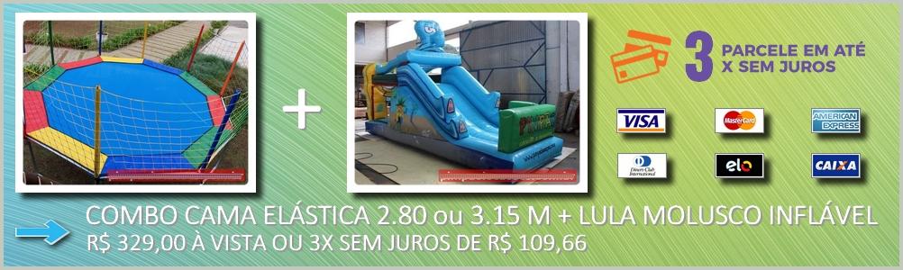 Cama Elastica + Inflável Lula Molusco
